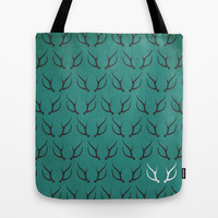 Antlers Tote Bag by hannahclairehughes