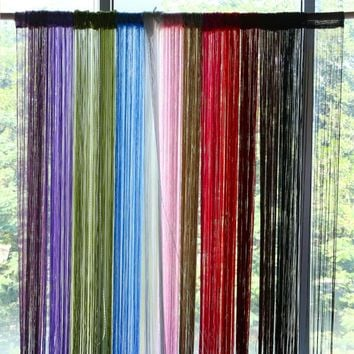 12 Colors 2*1m String Curtain for Living Room Window Door Curtain Thread Yarn Strip Tassel Drape Room Divider Home Decor