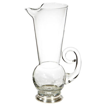 1950s Sterling-Base Glass Pitcher