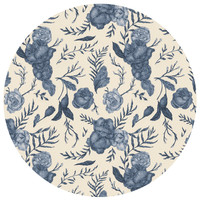 Jessica Roux's Blue Floral Pattern Circle Decal