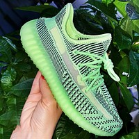 ADIDAS YEEZY 350 New Style Sneakers Camouflage green stripe Shoes