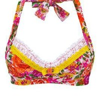 Betsey Johnson's Orange Slice Banded Halter Top   Everything But Water