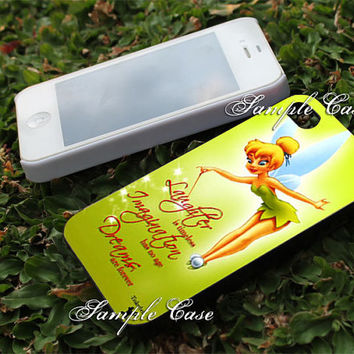 Disney Tinkerbell Quotes Customized cellular case for iPhone 4/4S, iPhone 5/5S/5C, Samsung Galaxy S3 and S4, ipod 4 and ipod 5