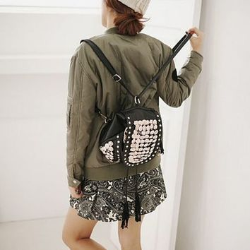 Super Embellished Convertible Backpack Purse