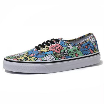 Trendsetter VANS Canvas Old Skool Print Flats Shoes Sneakers Sport Shoes