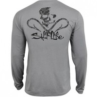 Get Hooked SLX Uvapor Long Sleeve Pocket Tee - Tops - Mens