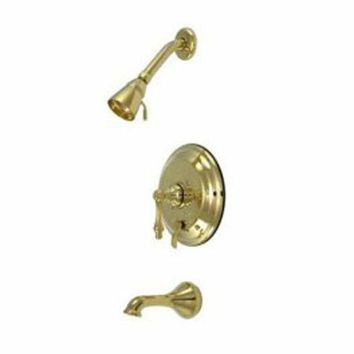 DCCK1IN elements of design eb36320al new orleans polished brass pressure balanced tub and shower faucet with metal lever