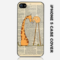 Funny Unique Elephant Unique Giraffe Everything Custom iPhone 5 Case Cover
