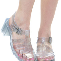 CLEAR GLITTER JELLY SANDAL