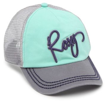 Roxy Go Live Trucker Hat - Womens Hat - Green - One