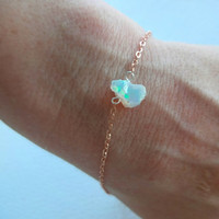 Rough Opal and 14/20 Rose Gold Bracelet
