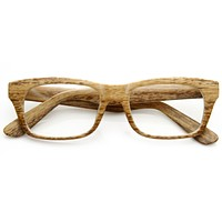 Indie Fashion Wood Print Rectangle Clear Lens Glasses 8809