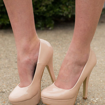 Classy Is In Session Heels, Nude