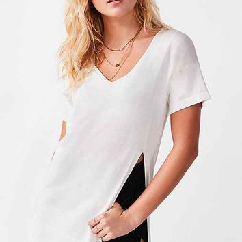 Silence + Noise Side-Slit Tunic Tee