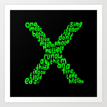 X (MULTIPLY) - ED SHEERAN Art Print by infinitum