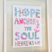 """Lilly Pulitzer Quote Print in Glass Float Frame 16""""x20"""""""