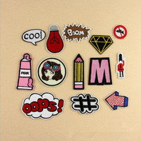 Cartoon Patch Computer Embroidery Badges Can Be Hand Sew Iron On
