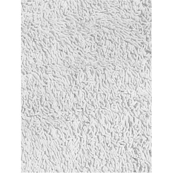 Fun Rugs Fun Shags Collection White Area Rug
