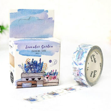 JF317 Garden of Lavender Decorative Washi Tape DIY Scrapbooking Masking Tape School Office Supply Escolar Papelaria