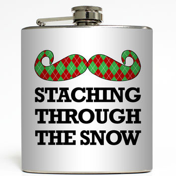 Staching Through The Snow - Christmas Flask