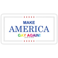 'MAKE AMERICA GAY AGAIN!' Sticker by navytillidie