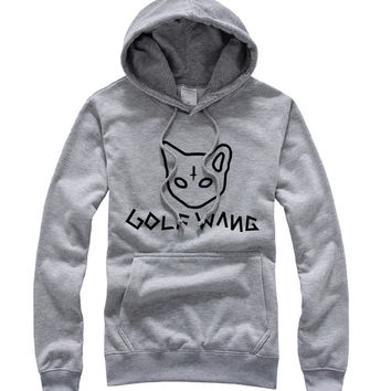 Odd Future Golf Wang Cat Grey Hoodie