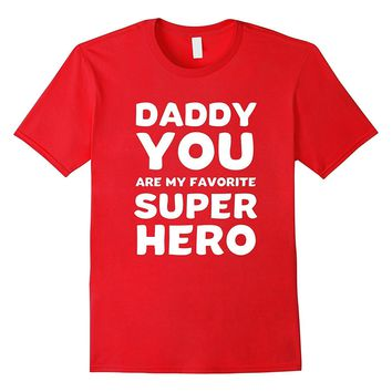 Superhero Dad Fathers Day Shirt Gift Hero Kids Boys Toddler
