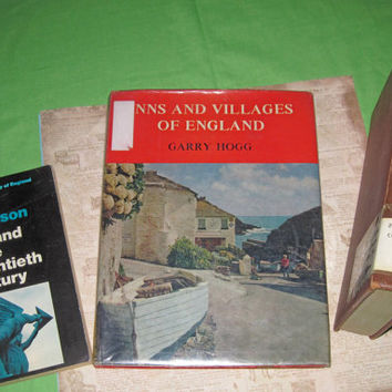 ENGLAND BOOKS - Set of 3 Vintage Nonfiction