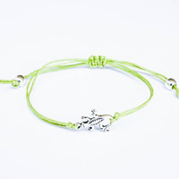 Lizard Bracelet made with Cotton Cord
