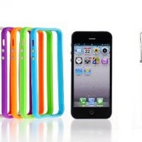 6 x Border Edge Bumper Durable TPU Skin Case Covers for Apple iPhone 5 5G - Blue Green Orange Purple White Red
