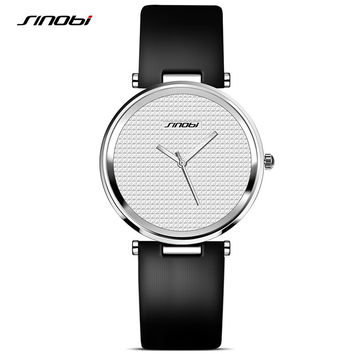 New 2016 SINOBI Fashion Women Watch For Luxury Brand Ladies Rose Gold Wristwatch Female Quality Clock Minimalist Montre Feminine