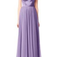 After Six Satin & Chiffon Gown | Nordstrom
