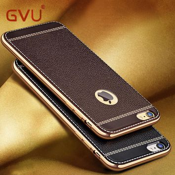 GVU Luxury Plating TPU Silicone Mobile Phone case For iPhone 5 5S SE 6 7 8 Case Plating Frame Cover For iPhone X 6 7 8 Plus