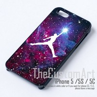 Air Jordan Logo Brand Nebule - For iPhone 5 Black Case Cover