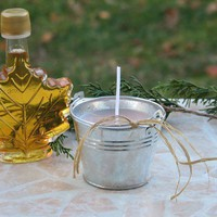 Miniature Vermont Sap Bucket Candle Scented In Vermont Maple Syrup