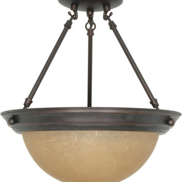 Medium Dome Semi Flush Ceiling Light Fixture