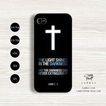 iPhone 5/5s, 5c, 4/4s & Samsung Galaxy S4, S3 Cases | Quotes / God / Jesus / Bible / Love / Faith / Hope / Christian iPhone 5 Case