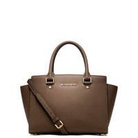 Selma Saffiano Leather Medium Satchel | Michael Kors