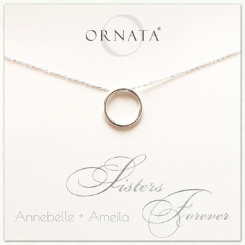 """""""Sisters Forever"""" Sterling Silver Necklace 