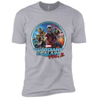 Marvel Guardians of Galaxy 2 Team Circle Graphic T-Shirt Next Level Premium Short Sleeve Tee