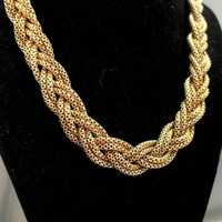 Braided Mesh Rope Necklace