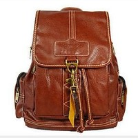 AM Landen Synthetic Soft Leather Backpack, Leisure Bags Casual Handbags(Brown)