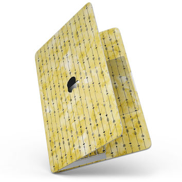 Yellow and Black Tribal Arrow Pattern - MacBook Pro without Touch Bar Skin Kit
