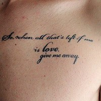 Typographical Tattoos: Putting Skin Art Into Words