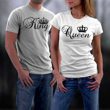 Valentines, Valentine Couples Shirts, Valentine Gifts, King and Queen  Matching Couples Shirts,Valentine Gifts