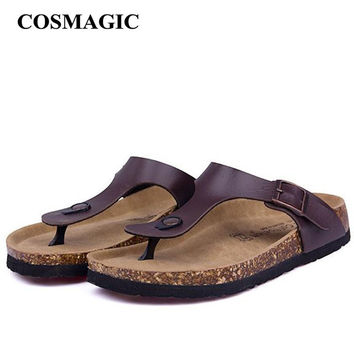 New Beach Cork Flip Flops Slipper 2017 Casual Summer Women Mixed Color Slip on Sandals Flat Shoe Free Shipping Plus Size
