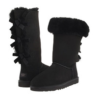 UGG Bailey Bow Tall Boot Black - Zappos.com Free Shipping BOTH Ways