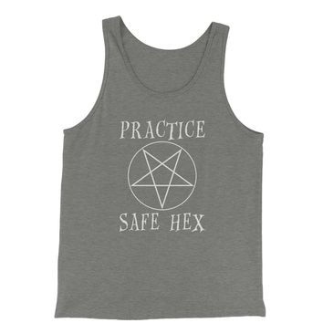 Practice Safe Hex Jersey Tank Top for Men