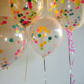 4 Custom Confetti Balloons for Birthday, Dessert Table, Wedding Tables, Event Decor With FREE SHIPPING!