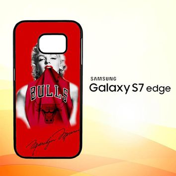 Marilyn Monroe Chicago Bulls L2189 Samsung Galaxy S7 Edge Case